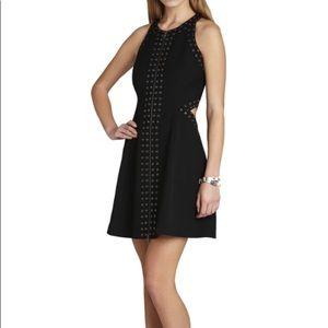 BCBG black cocktail dress with cutouts